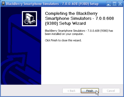 Install Simulator Blackberry