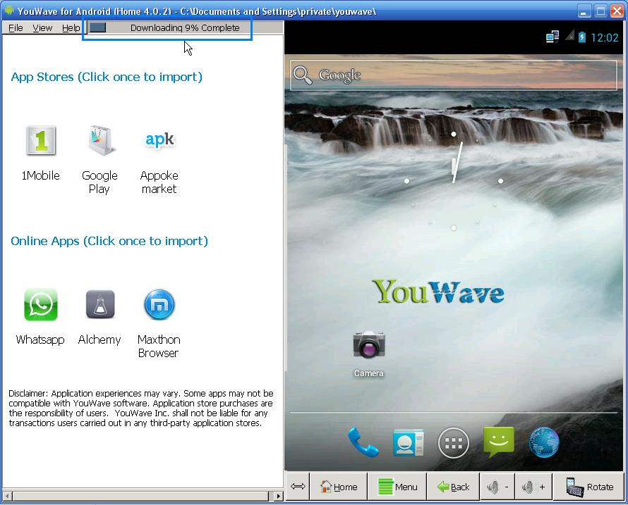 10. Setelah selesai proses download, klik View > Apps yang menjadi