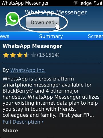 cara download aplikasi wa di hp bb